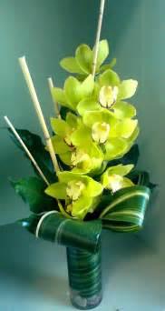 Exotic cymbidium orchid arrangement grande flowers