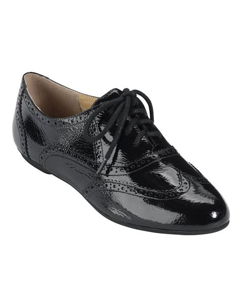 topshop oxford shoes cole haan tompkins patent leather oxfords in black lyst