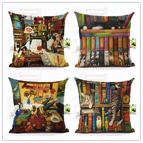 Inspired Decor Wholesale by Wholesale European Style Cat Pillow Cases Throw