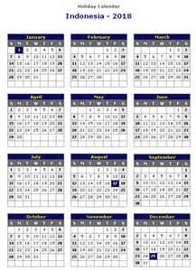 Kalender 2018 Indonesia Word Indonesia 2018 Printable Calendar 171 Printable Hub
