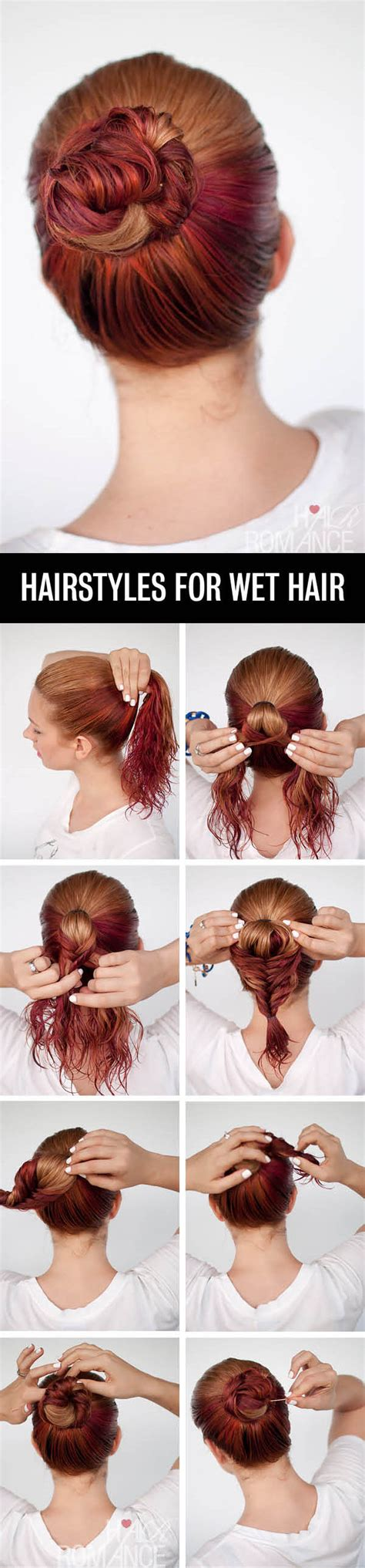 easy hairstyles for medium wet hair get ready fast with 7 easy hairstyle tutorials for wet