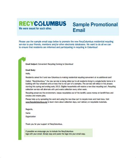 promotional email templates email templates 10 free word pdf documents