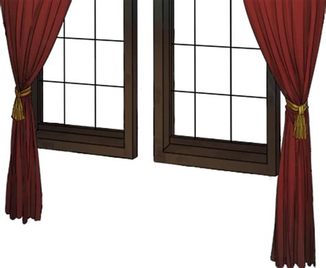 transparent window curtains image window with red curtain png kancolle wiki