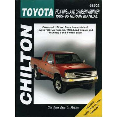 car manuals free online 1993 toyota land cruiser head up display toyota land cruiser and 4 runner 1993 to 1996 sagin workshop car manuals repair books