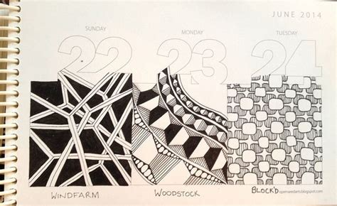 zentangle pattern a day tangle a day calendar flickr photo sharing