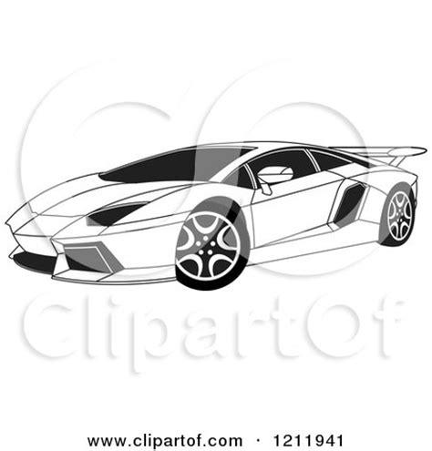 small cars black clipart of a black and white lamborghini aventador sports