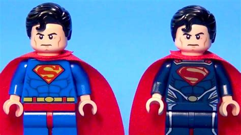 Lego Original Minifigure Superman Of Steel lego superman of steel minifigure comparison