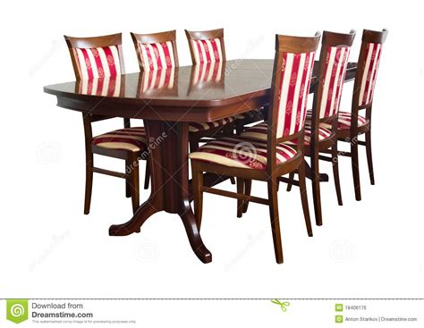 Free Dining Room Chairs Dining Room Furniture Royalty Free Stock Image Image 18406176