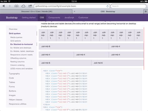 bootstrap layout col css twitter bootstrap grids bug on ipad stack overflow