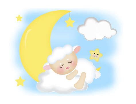 sheep mural wall decals baby moon barnyard
