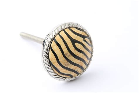 Zebra Drawer Knobs by Zebra Stripe Drawer Knob By Grey Interiors