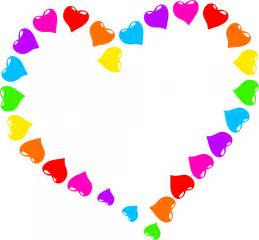 Rainbow hearts clipart clipartfest