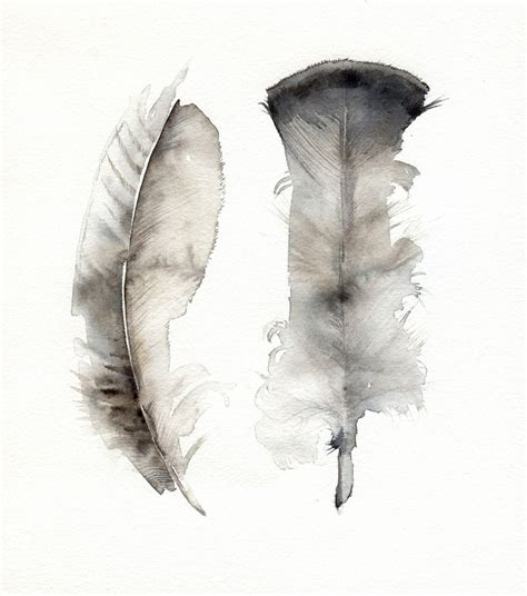 Turkey Feather turkey feathers original watercolor painting