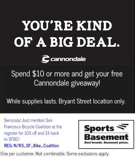 sports basement discount members get a free gift and save at sports basement