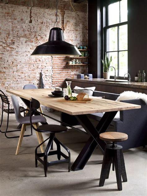 mesas de comedor estilo industrial estilo escandinavo