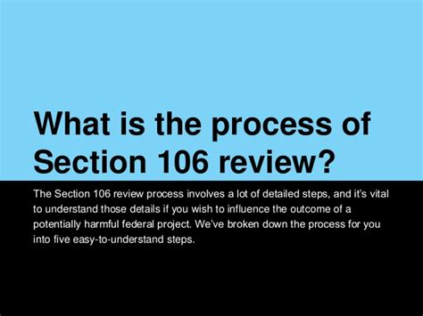section 106 review preservation tips tools the basics of section 106 review