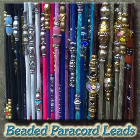beaded show leads for dogs beaded para cord show leads