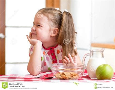 refuses to eat kid refuses to eat healthy food stock photography image 37904482