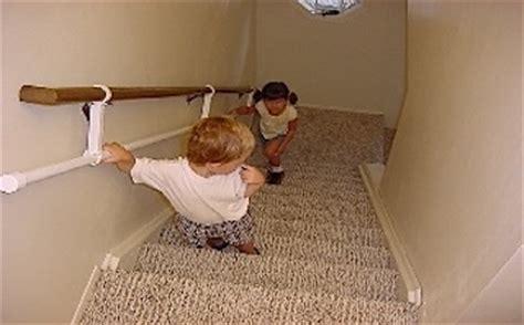 Toddler Stair Handrail steps handrail mounts on and hangs below a standard stairway rail