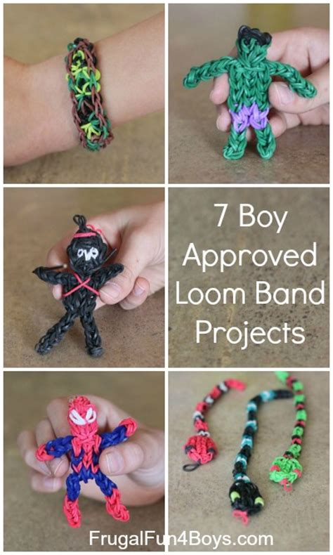 Seven Boy Approved Rainbow Loom Band Projects   Frugal Fun For Boys and Girls