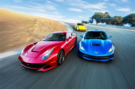 ferrari porsche head 2 head video ferrari f12 corvette stingray porsche