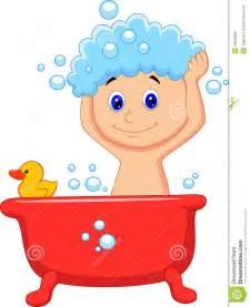 Toddler Bath Tub For Shower menino bonito dos desenhos animados que tem o banho