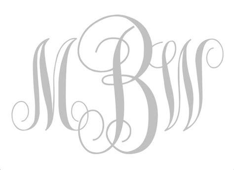 diy wedding signs stencils custom monogram center letter