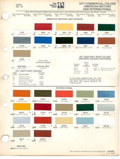 dupont fleet color charts html autos weblog