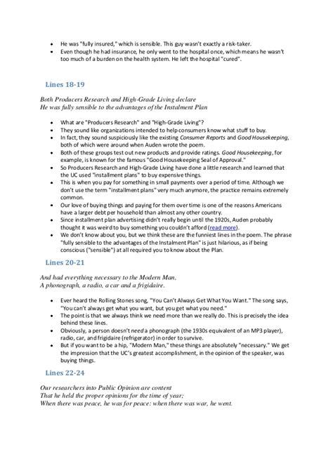 Citizen Analysis Essay by Unknown Citizen Essay Writefiction581 Web Fc2