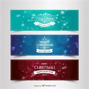 vintage christmas banners vector free download