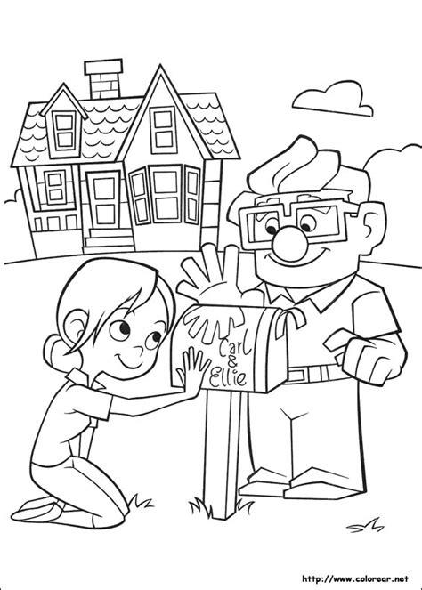up movie coloring page dibujos para colorear de up una aventura de altura