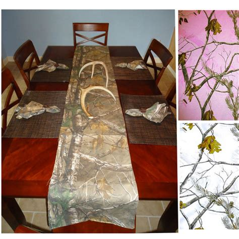 Camo Table Runners by Realtree Fabric Camo Tablerunner