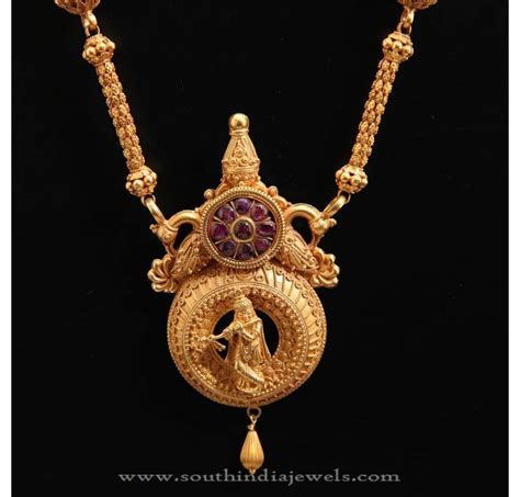22kt temple jewellery designs south india jewels