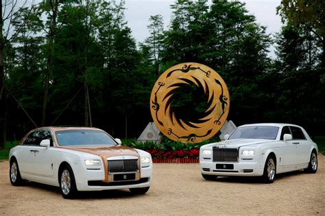 golden rolls royce rolls royce ghost golden sunbird one off for china