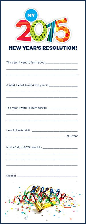 new years resolution worksheet printable new year s resolution worksheet for la