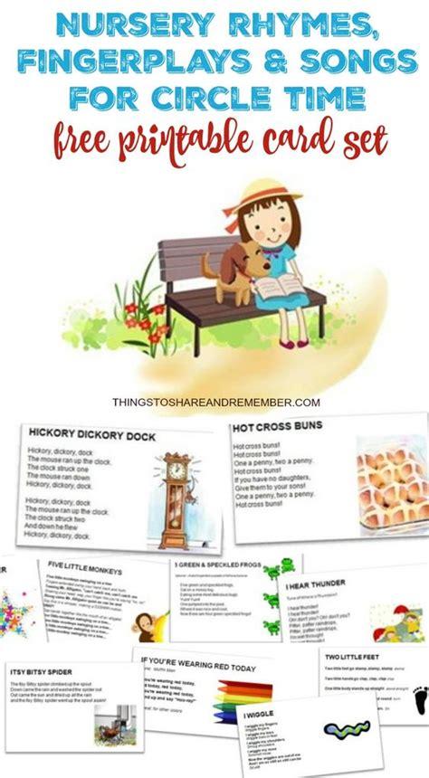 printable nursery rhymes nursery rhymes fingerplays songs nursery rhymes