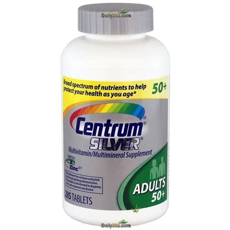 Vitamin Centrum centrum silver multivitamin multimineral complete vitamin 285 tabs adults gt 50 ebay