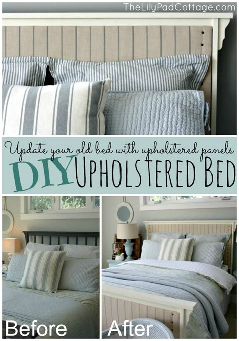 diy upholstered bed frame diy upholstered bed the lilypad cottage