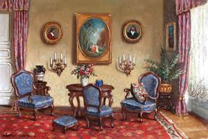 Hungarian Fine Art   Hungarian Paintings   Hungarian Art Gallery   Biedermeier Living Room