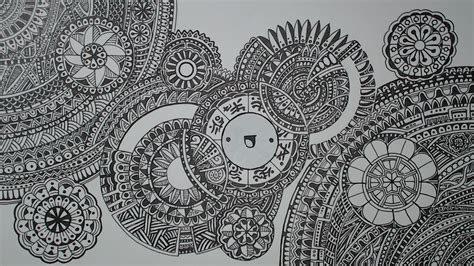 how to draw a doodle page mandala doodle