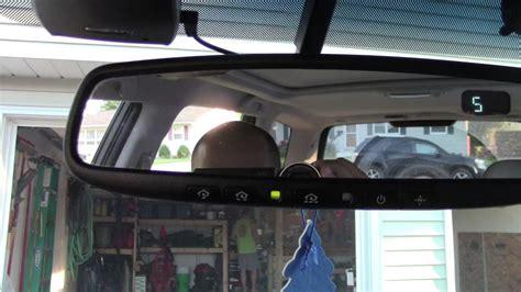 subaru homelink mirror how to setup subaru homelink rear view mirror garage door