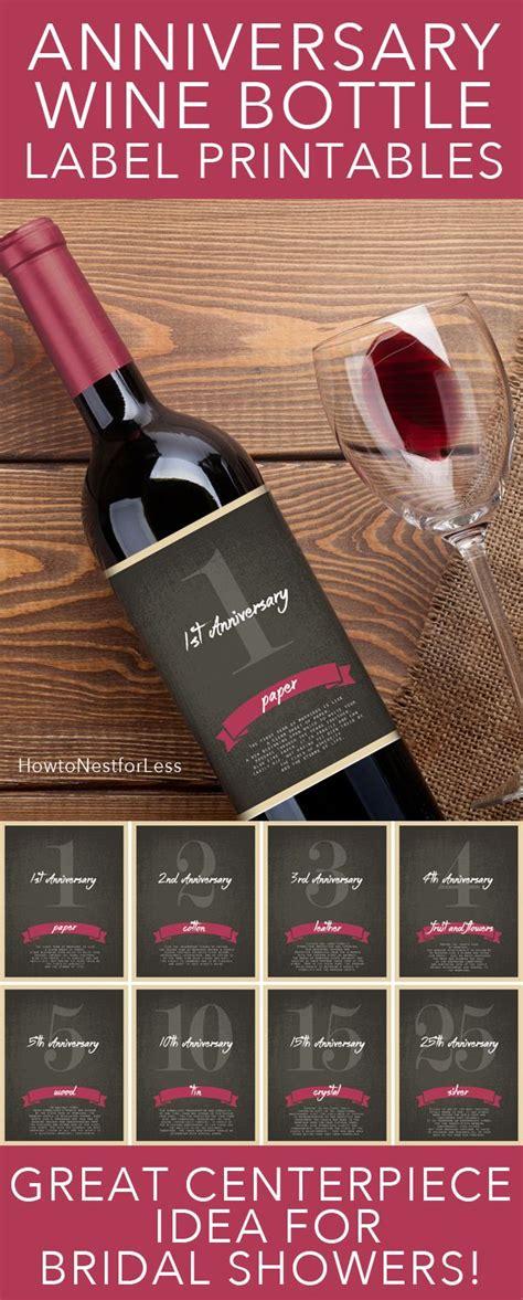 free printable bridal shower wine labels wine bottle anniversary labels free printable bridal