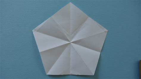 Pentagon Origami - how to fold an origami pentagon