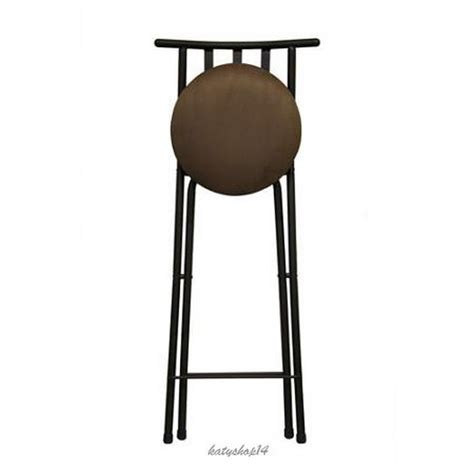 Folding Counter Height Stools by Folding 24 Quot Counter Stool Barstool Slat Back Bronze Beige