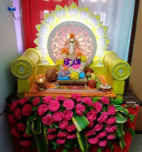home made decor ganpati decoration ideas puja and traditions