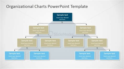 Pyramidal Org Chart For Powerpoint Slidemodel Powerpoint Organization Chart Template