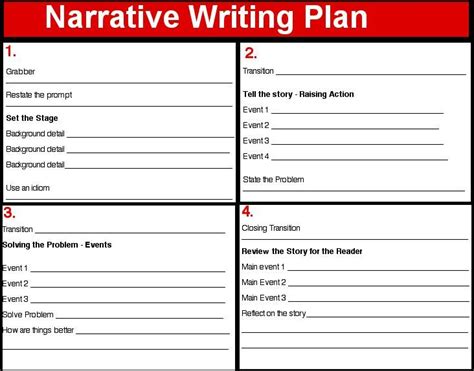 writing a story template narrative writing paper