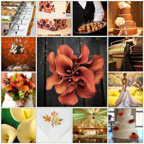 wedding colour themes autumn fall wedding themes cherry marry