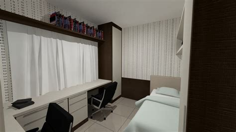 escritorio quarto de hospedes foto quarto hospedes e escrit 243 rio de rafaela werlich