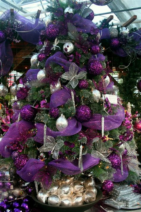 643 best purple xmas images on pinterest christmas decor